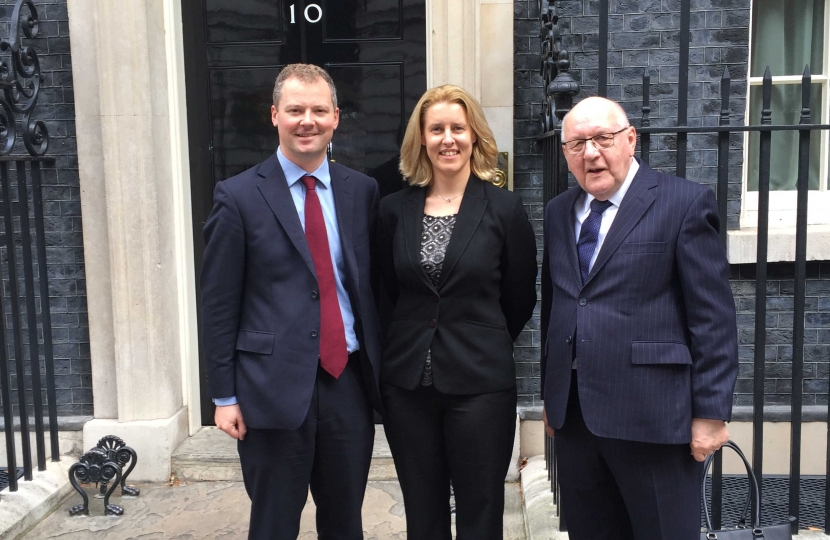 Leicestershire team at Downing Street