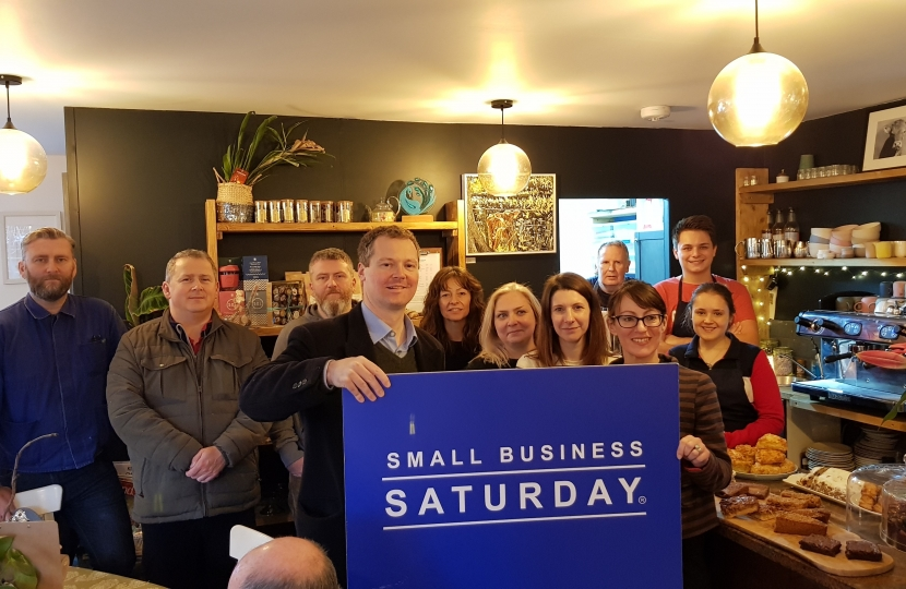 Neil O'Brien MP - small business saturday Kibworth