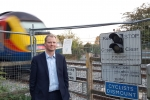 Neil O'Brien MP - railway crossing